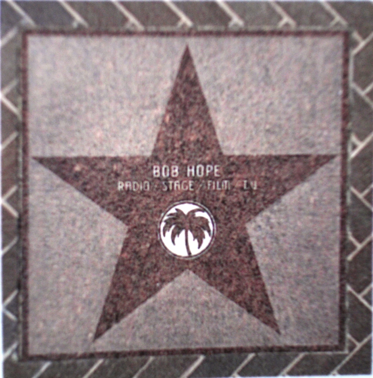 Bob Hope's Star - Sample of what we want for Jackie!