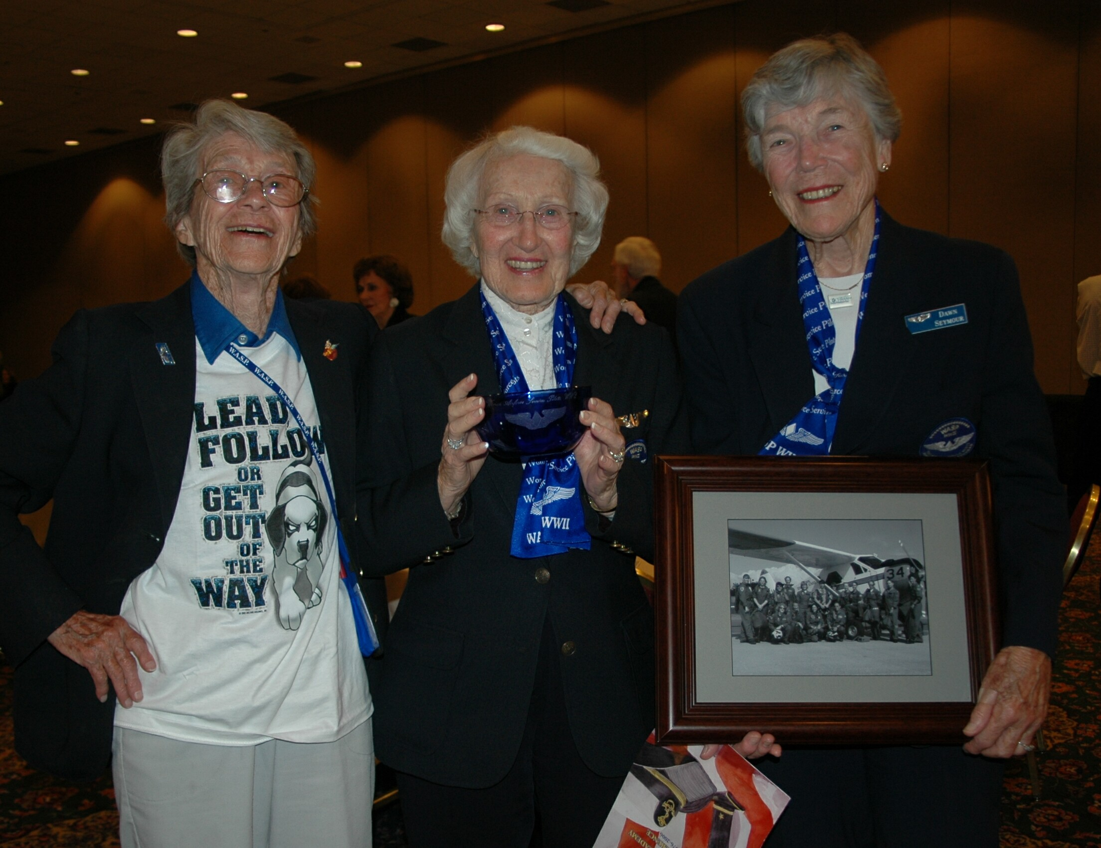 Dot Lewis, Jan Goodrum and Dawn Seymour at the Portand 2006 WASP reunion