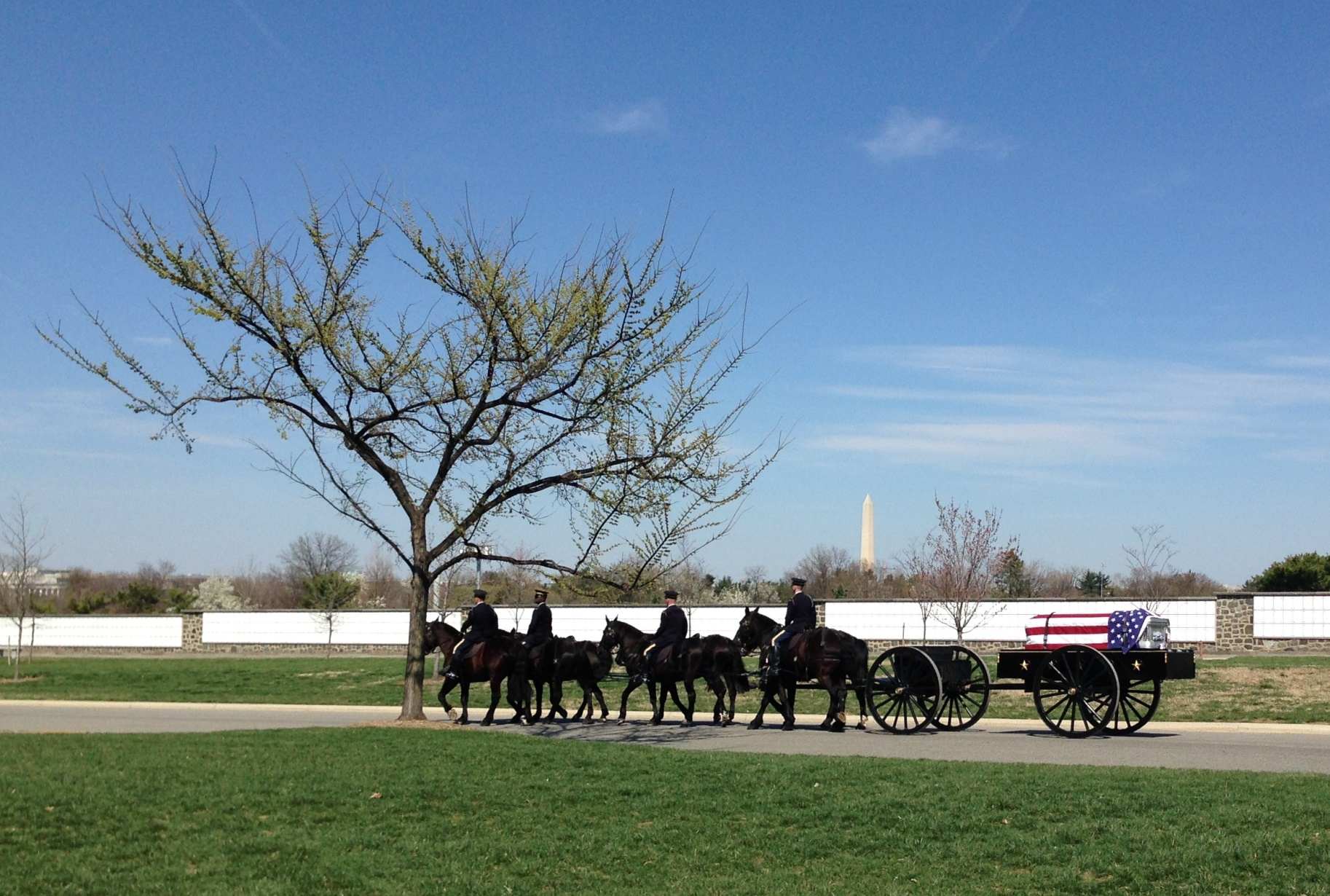 caisson at Dora Dougherty Stothers funeral service at Arlington National Cemetery April 2014