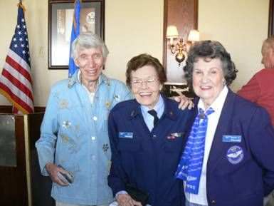 Betty Jane Williams with Ty and Lamby at the WASP Memorial on Veteran's Day 2008 at the Proud Bird Restaurant near LAX